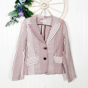 CAbi Red Striped Blazer